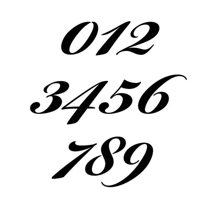 Script number fonts pixshark images galleries